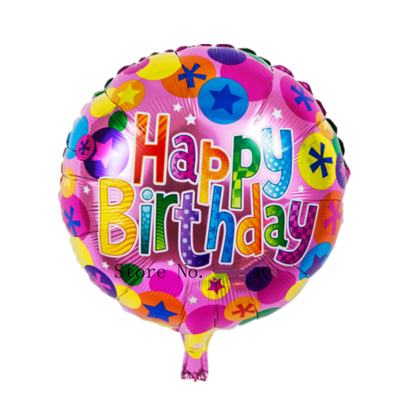 XXPWJ Free Shipping New  1pcs Foil aluminum balloons Happy birthday balloons who