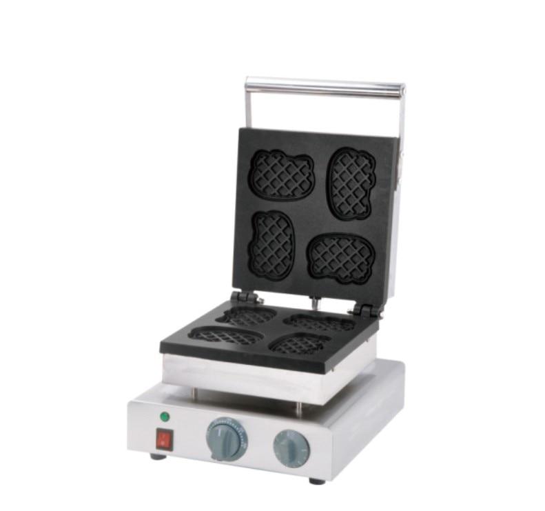 Free shipping~ Electric Cartoon cat shape waffle maker machine / Khaki waffle maker