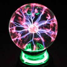 Novelty Crystal Plasma Ball Magic Sphere Light 3 4 5 6 8 inch Holiday Lights Table Night Lamp Kids Room Decor Gift Box Lightning
