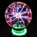 Novidade Cristal Esfera de Luz Plasma Bola Mágica 3 4 5 6 polegadas Luzes Do Feriado Lâmpada de Mesa de Cabeceira Quarto Dos Miúdos Decoração Caixa de Presente relâmpago