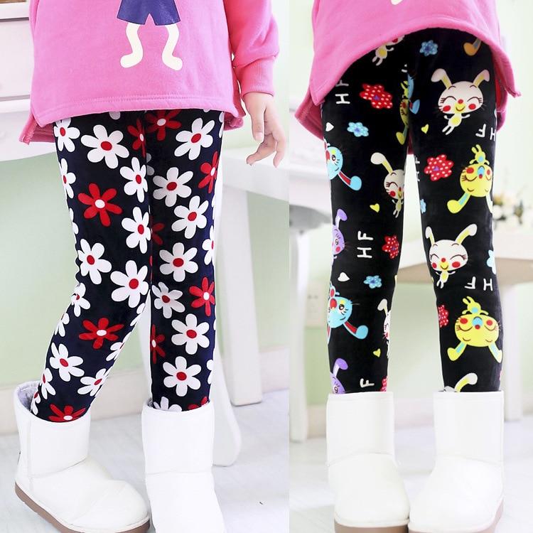 New arrival 2014 winter girls leggings children cute pants