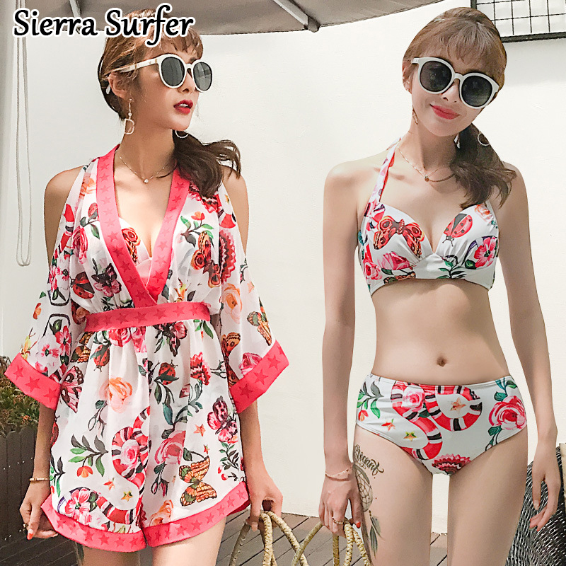 Female Swimwear Woman May Beach Women Cheap Sexy Bathing Suit Plus Size 2018 New Underwire Three Piece Skirt 7206 Badpakken cheap sexy bathing suits swimwear one piece female may beach girls plus size 2017 2018 pure color covering underwire groups