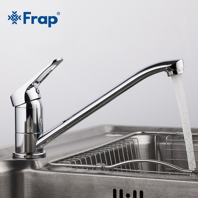Frap New Arrival Chrome Kitchen Sink Faucet Cold And Hot Water Mixer Tap Single Handle Torneira Cozinha With Long Nose 4913