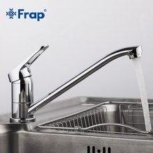Frap yeni varış krom mutfak lavabo musluğu soğuk ve sıcak su musluk bataryası tek kolu Torneira Cozinha uzun burun ile 4913