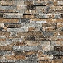 ورق حائط جداري ثلاثي الأبعاد مجسمة من الأحجار الصناعية للجدران 3 D خلفية تلفزيون لغرفة المعيشة ورق حائط من الفينيل ورق حائط ثلاثي الأبعاد