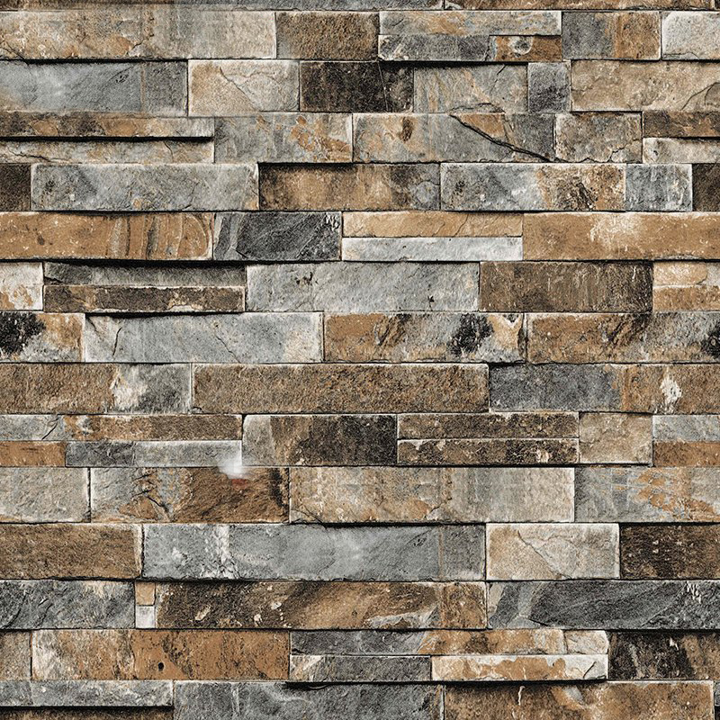 Buy 3d stereoscopic faux stone brick wall for Vinyl wallpaper for walls