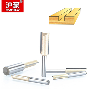 """Image 3 - HUHAO 1pcs 1/4"""" 1/2""""Shank 2 flute straight bit Woodworking Tools Router Bit for Wood Tungsten Carbide endmill milling cutter"""