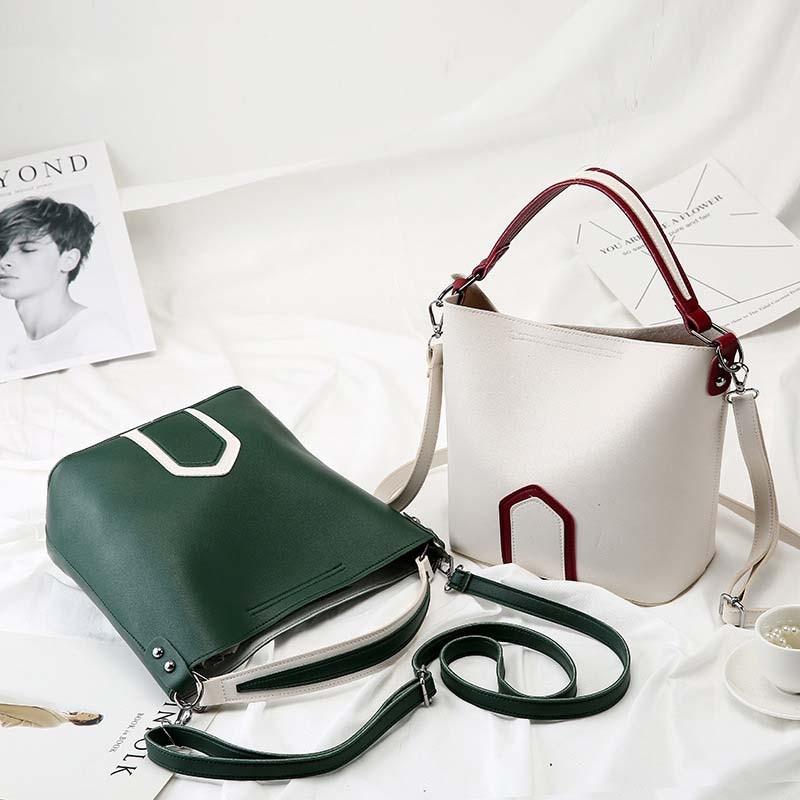 Luxury Brand Tote Bag Contrast Color PU Leather Shoulder Bag Famous Designer Women Handbags Small Square Bags 1