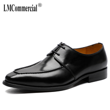 Spring Summer High Quality Genuine Leather Shoes Men Business Suit British Lace-Up Business Men Shoes,Men Dress Shoes Large Size цена 2017