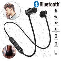 XT11 Magnetische Bluetooth Kopfhörer V4.2 Stereo Sport Wasserdichte Ohrhörer Wireless in-ear Headset mit Mic für iPhone Samsung