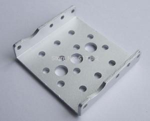 Image 2 - Kostenloser versand 10x Seite Halterung für RDS3115 roboter servo Silber sandstrahlen oxidation metall U klammern