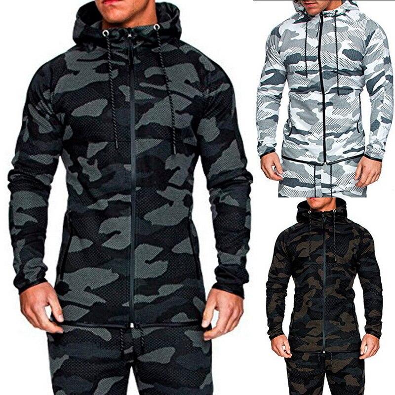 Oeak 2020 Spring Autumn Mens Casual Camouflage Hoodie Jacket Men Waterproof Clothes Men's Windbreaker Coat Male Outwear 3XL