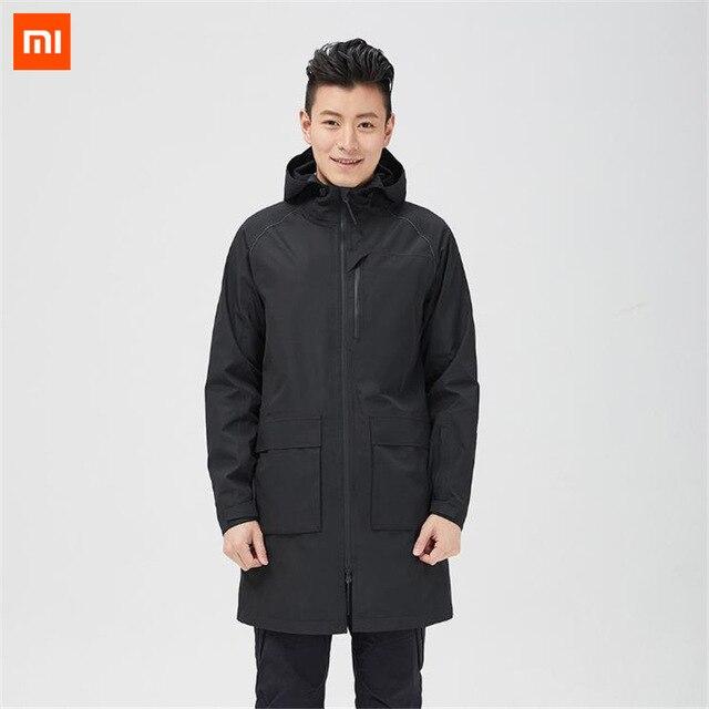 Xiaomi Uleemark Men Rainproof Long Jacket Windproof Jacket With Hat IPX4 Waterproof Coat Light Warm Winter Upper