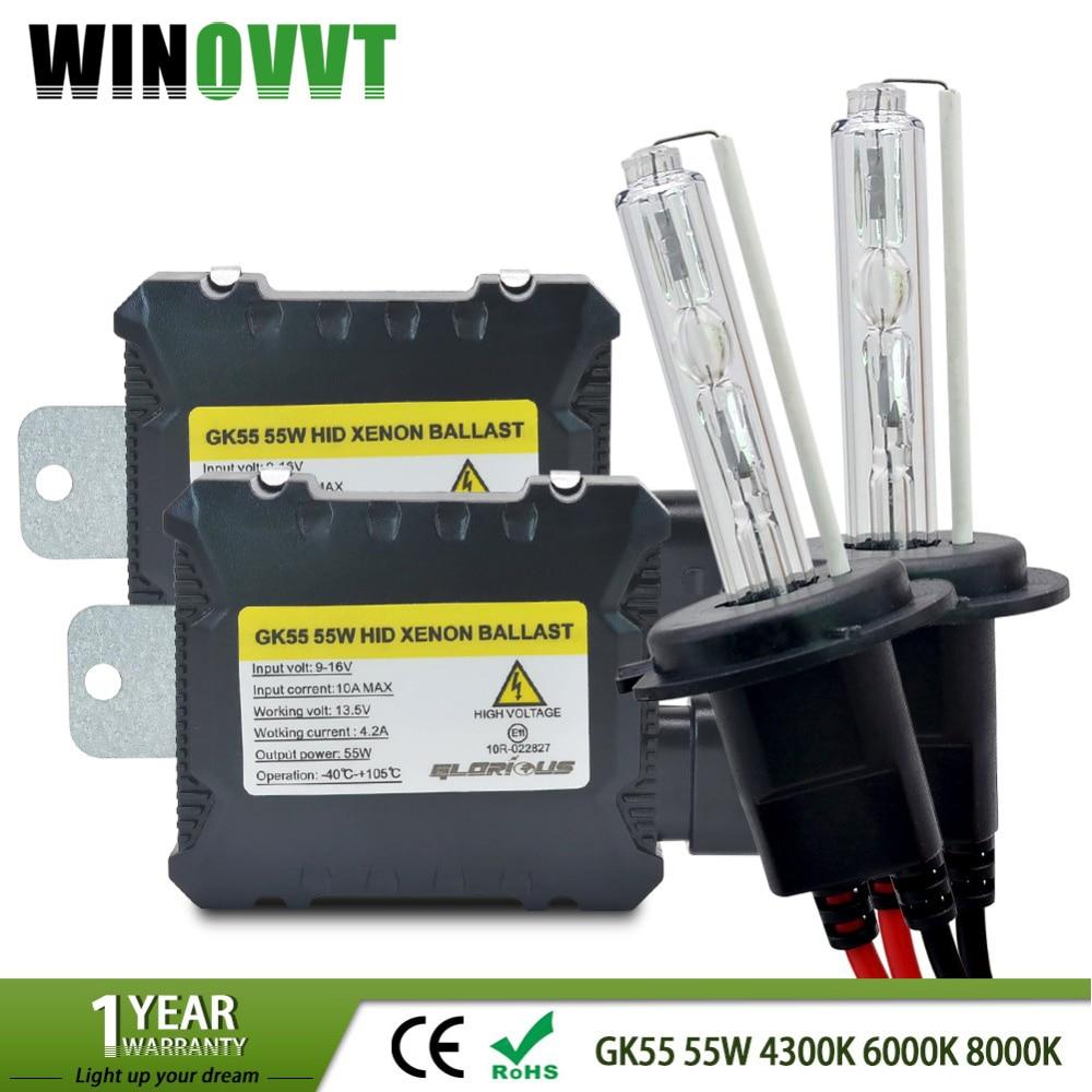 все цены на H7 xenon H4 HID Kit for car Headlight H1 H3 H4 H8 H9 H11 9005 HB3 9006 HB4 881 D2S 4300K 6000K 8000K xenon H7 HID Bulb Ballast онлайн