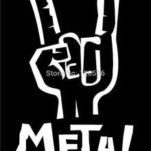 Забавные наклейки Знак рога рука тяжелый металл окна автомобиля стикер Горячая