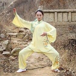 Taichi uniform tai chi kleidung frauen tai chi uniform kung fu kampfkunst kleidung lose fit sport sets FF2013
