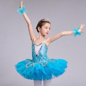 Image 1 - الأزرق المهنية الباليه توتو للفتيات الاطفال الترتر الباليه توتو الطفل ملابس رقص للفتيات