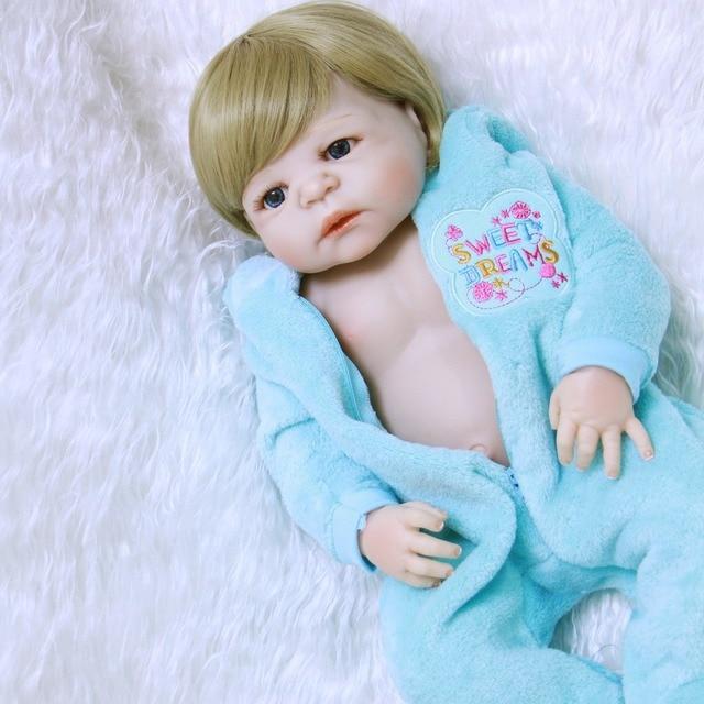 "22 ""NPK bebeตุ๊กตาreborn realistaเด็กสาวเกิดทารกเต็มร่างกายซิลิโคนเด็กของขวัญวันเกิดbonecas rebornเดอซิลิโคน"