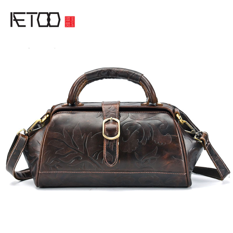 AETOO Leather handbags Europe and the United States new oil wax leather retro shoulder Messenger bag top layer leather handbag 2017 summer new shoulder bag women europe and the united states fashion female package oil wax skin women handbag bh1410