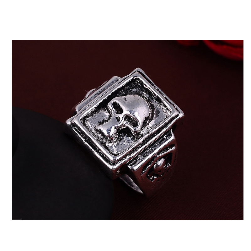 Online Shop unique man rings simple cool antique silver plated ...