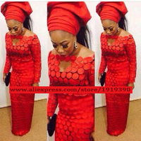 Wholesale Cheap African Lace Fabric Red Color High Quality Guipure Cord Lace Fabric For Party Dresses
