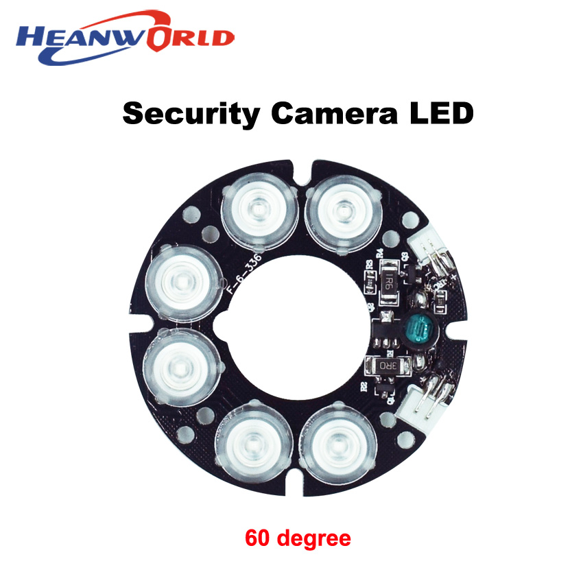 Heanworld 6 beautiful array LED IR Leds board Infrared IR Board 60 degree for Security CCTV Camera 60 diameter camera LED board mzorange side mirror led turn signal light outside for prius reiz wish mark x crown avalon 2008 2009 2010 2011 2012 right