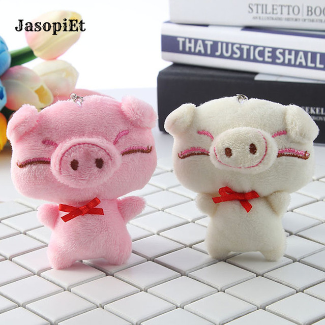 Jasopiet Cute Pig Plush Toy Mini Plush Bag Pendant Keychain Plush