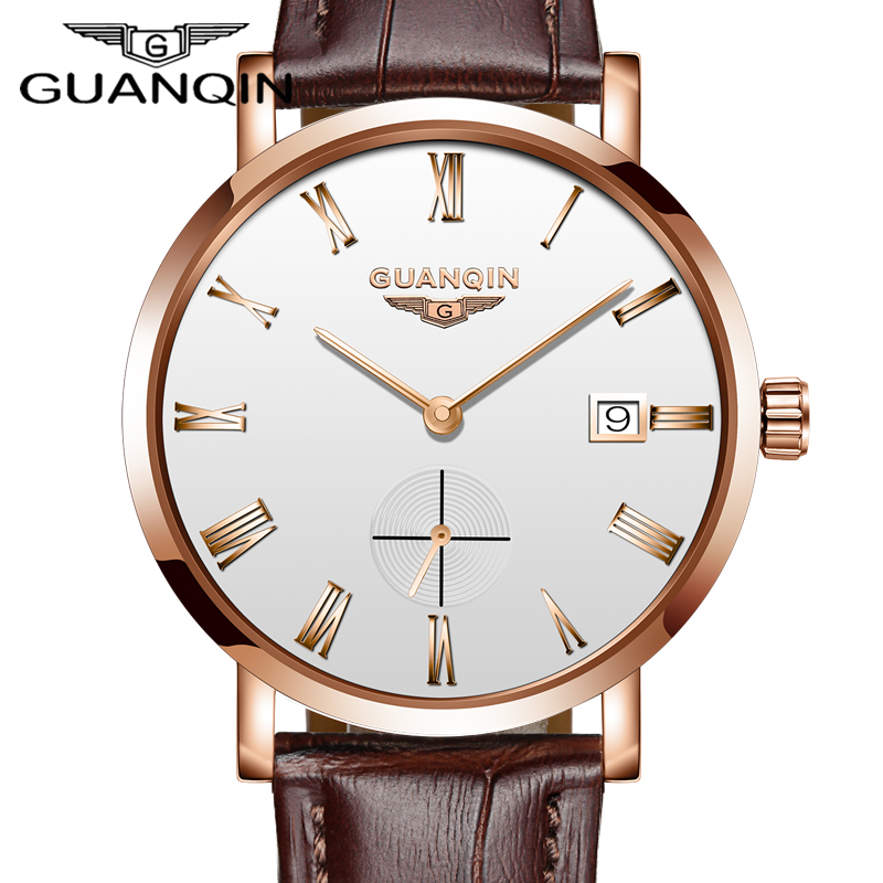 GUANQIN Mens Watches 2018 Top Luxury Brand Automatic Mechanical Watch Men Full Steel Business Waterproof Fashion Sport Watches цена