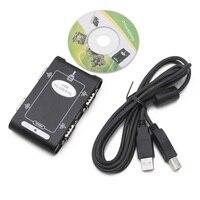 9pin RS232 USB 2,0 4 порта серийный DB9 COM разъемы контроллера Адаптер Hub T4ME; Прямая поставка
