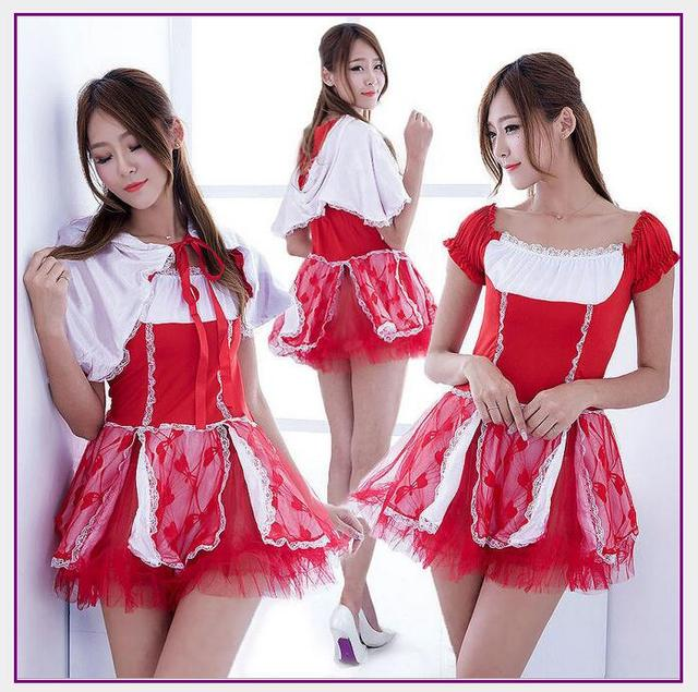 2017 Sexy Red French Maid Costume Sweet Gothic Lolita Dress Anime Cosplay Maid Uniform Halloween Costumes  sc 1 st  AliExpress.com & 2017 Sexy Red French Maid Costume Sweet Gothic Lolita Dress Anime ...