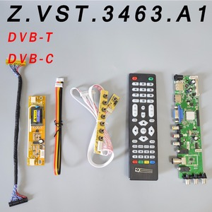 Z.VST.3463.A1 V56 V59 Universal LCD Driver Board Support DVB-T2 TV Board+7 Key Switch+IR+2 Lamp Inverter+LVDS(China)