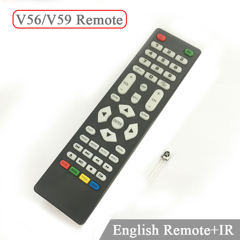 V59 V56 Universal Remote Control with IR receiver for LCD Driver Control board only use for V59 V56 3463A DVB-T2 only a promise