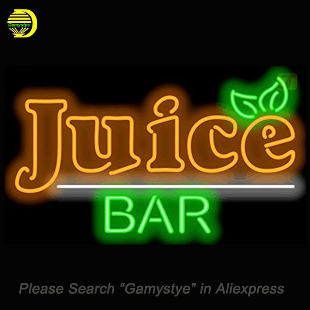 Neon sign for juice bar neon bulbs sign real glass tube handmade neon sign for juice bar neon bulbs sign real glass tube handmade beer bar fruit sign aloadofball Images