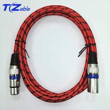 Câble conecteur XLR mâle à femelle 3Pin OFC câble Audio feuille + tressé blindé pour micro mixeur amplificateurs 2m 3m 5m cordon AUX