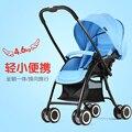 Two-way carrinho de bebê pode estar mentindo para baixo para se sentar carrinho de bebê guarda-chuva dobrável ultra-leve de liga de alumínio para crianças c