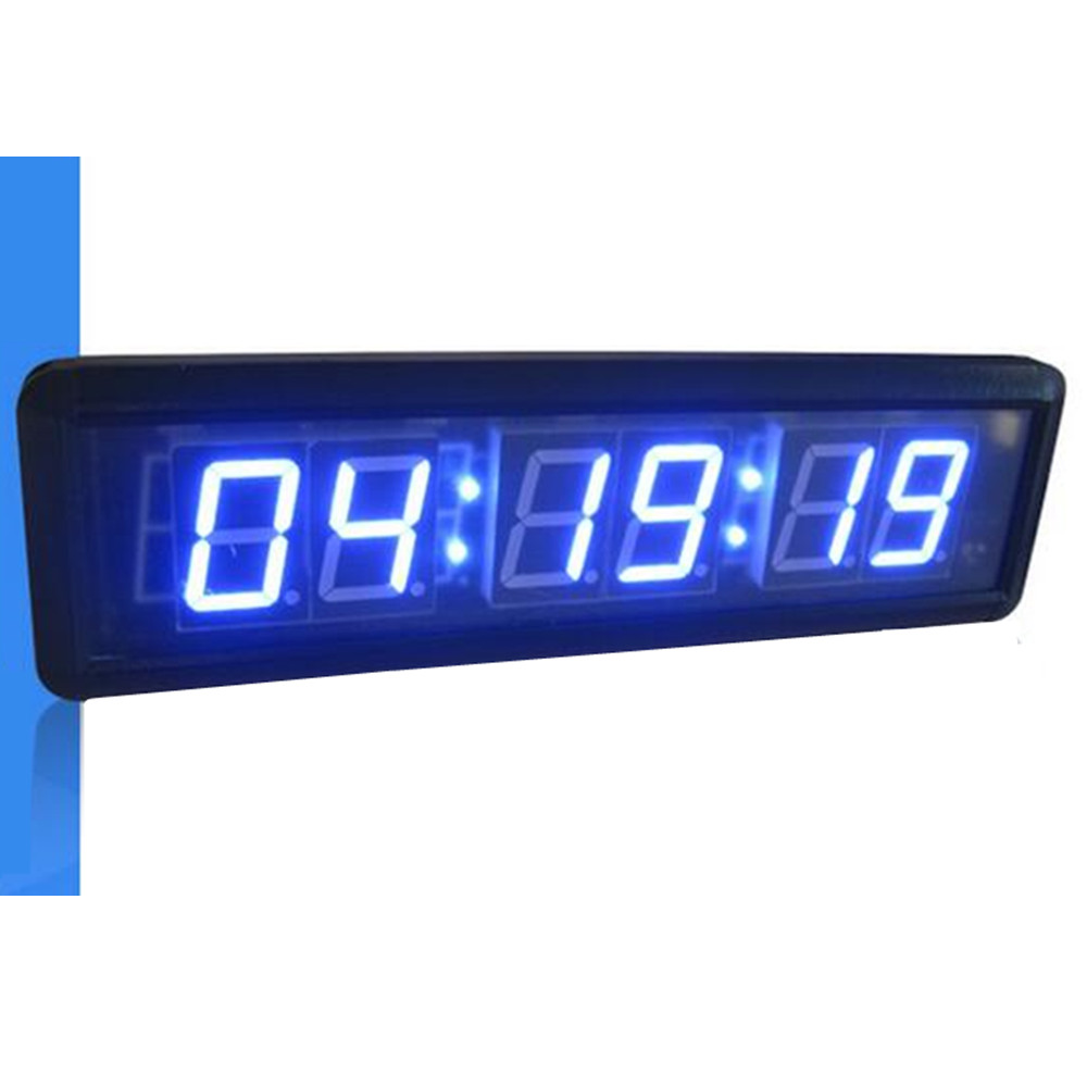 Dhl free shipping beautiful large led digital wall clock modern dhl free shipping beautiful large led digital wall clock modern design home decor stopwatch countdown count up red blue in wall clocks from home amipublicfo Images