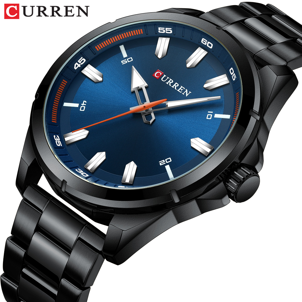 Newest CURREN Luxury Top Brand Watches Men Blue Military Army Analog Quartz Men's Wrist Watch With Steel Relogio Masculino
