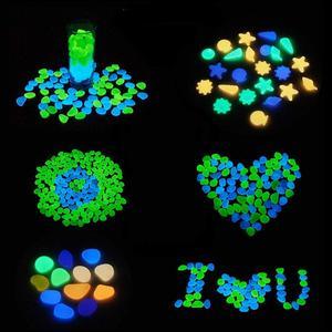 Image 3 - Pokich 100pcs Luminous Artificial Pebbles Glow In Dark Walkways Garden Fluorescent Artificial Stone for Aquarium Decoration