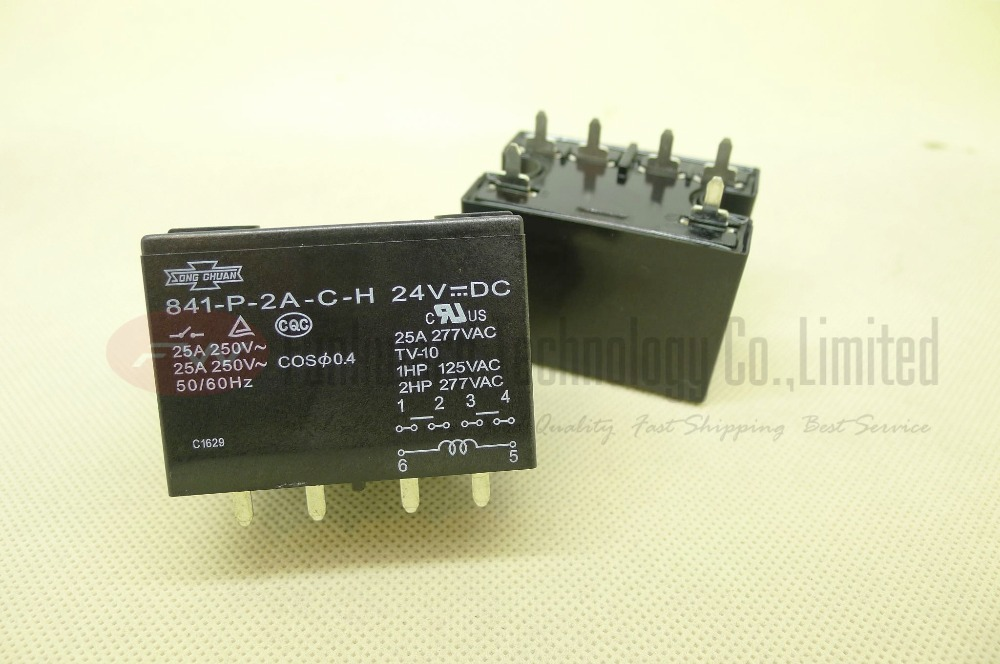 US $12 0 |841 P 2A C H 24VDC 841 P 2A C H 12VDC Power Relay 25A 277VAC 6  Pins-in Relays from Home Improvement on Aliexpress com | Alibaba Group