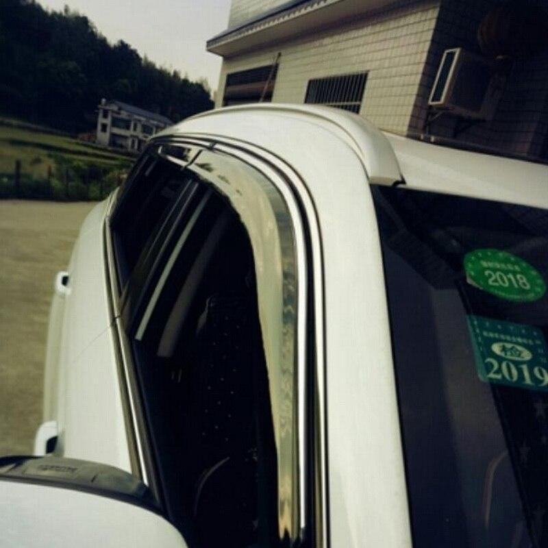 Tonlinker couverture autocollants pour Geely Atlas 2016-18 voiture style 4 pièces ABS plastique la porte fenêtres auvents abris couvre autocollant - 6