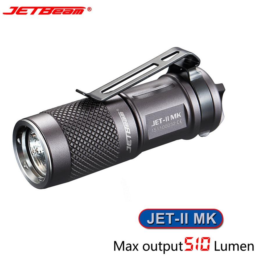 New Portable JETbeam JET-II MK Cree XP-L HI 510 Lumens Waterproof LED Flashlight L7120 lanterna DROP SHIP