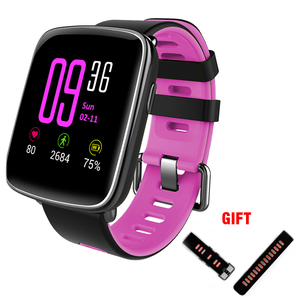 Kaimorui GV68 Smart Watch Waterproof Ip68 Heart Rate Monitor with Replaceable Strap for Android and IOS Bluetooth Smartwatch