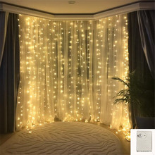 Memory Lights String Window Curtain Fairy Lamp Wedding Party Decorations Romantic Home Decor 3x3M 300LEDs EU/US Plug 220v 110V
