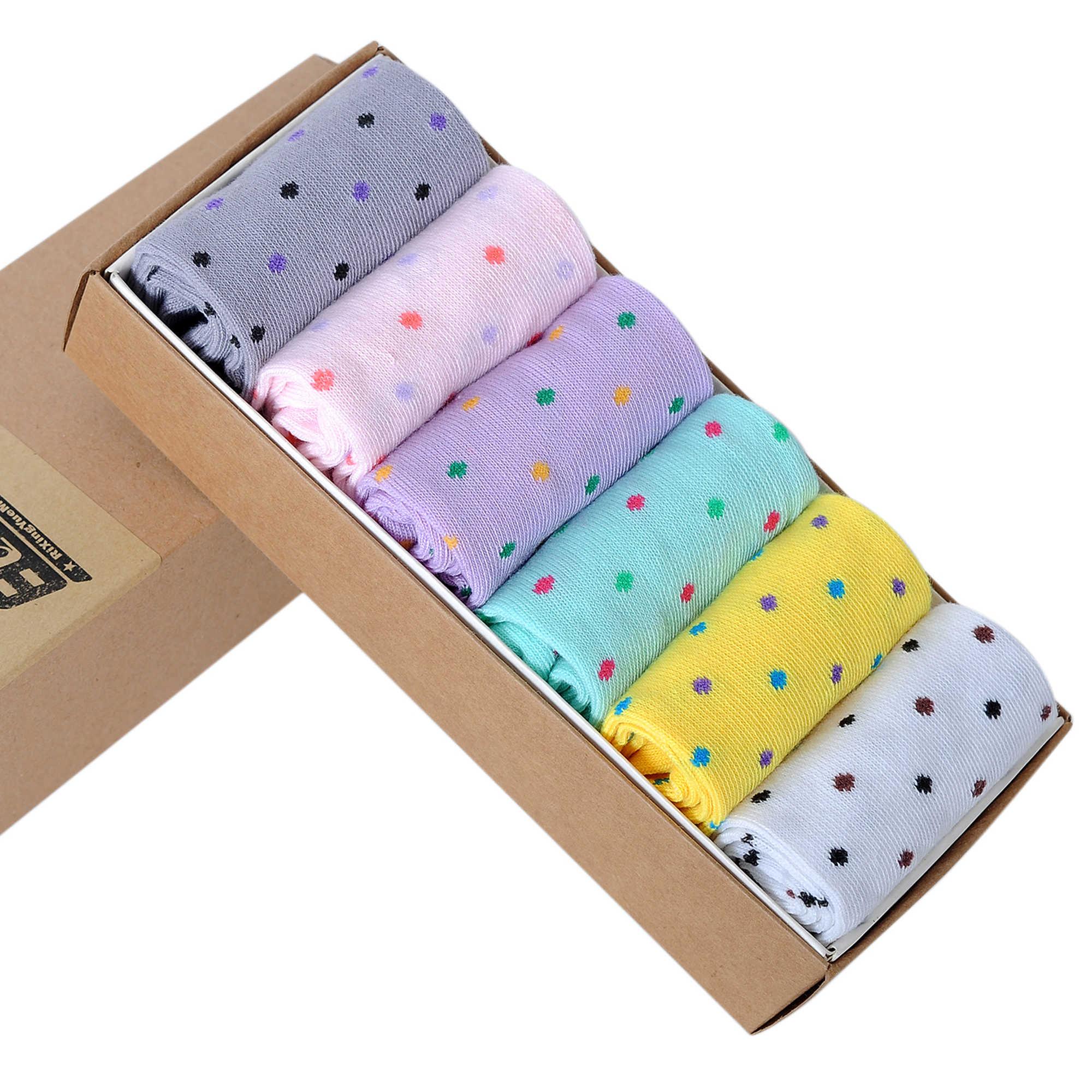 Модные популярные женские носки, классические милые весенне-летние, Осенние, зимние, яркие цвета, в горошек, с принтом, для 36-42, Безразмерные носки, бесплатная доставка