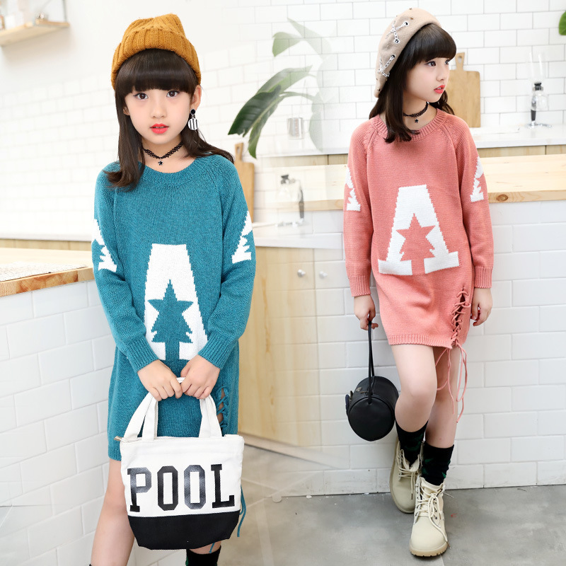 27c3a4dd6 Christmas toddler teen teenager girls long sleeve knitted sweaters ...
