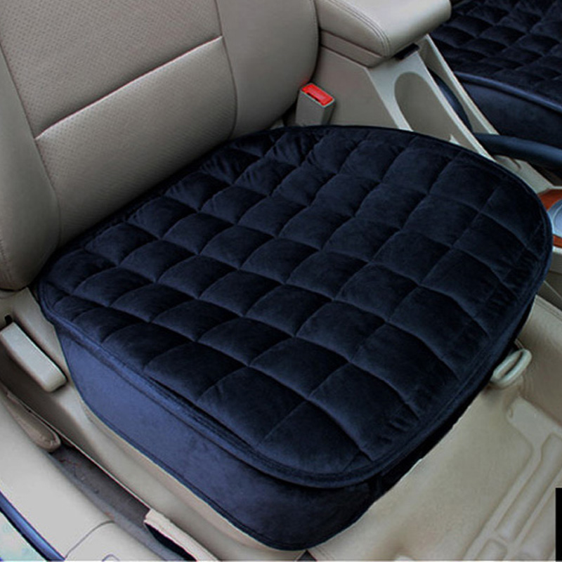 Beflockung tuch nicht bewegt sich auto sitz kissen rutsche auto sitzkissen universal halten warme winter auto zubehör sitz abdeckung