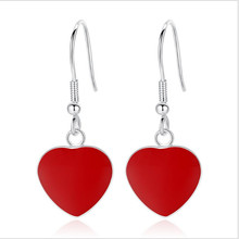 Everoyal New Arrival 925 Sterling Silver Earring Female Accessories Fashion Women Drop Earrings For Girls Red Heart Lady