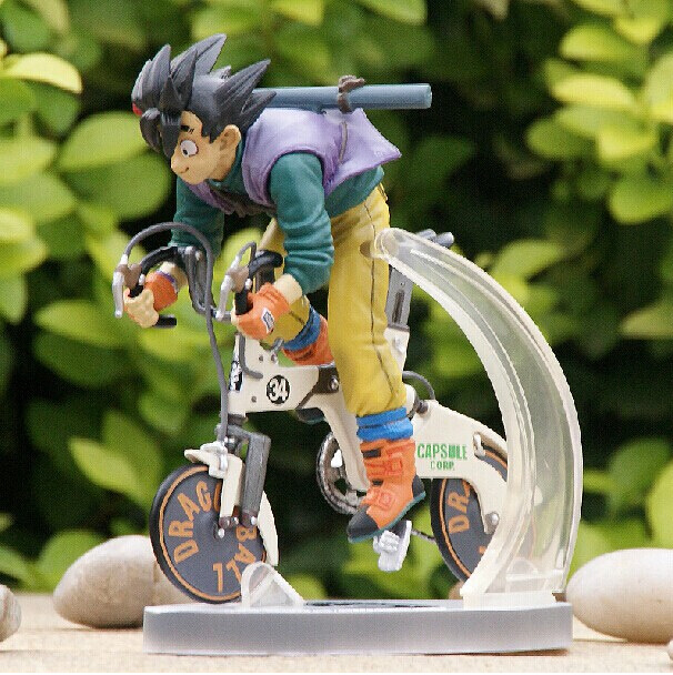 Anime Dragon Ball Z Figure Son Goku On The Bike Juguetes PVC Action Figure Brinquedos Collectible Model Kids Toys 23cm anime 15cm dragon ball z action figure toys 5 9inch collectible son gokou figure models anime brinquedos christmas gifts doll