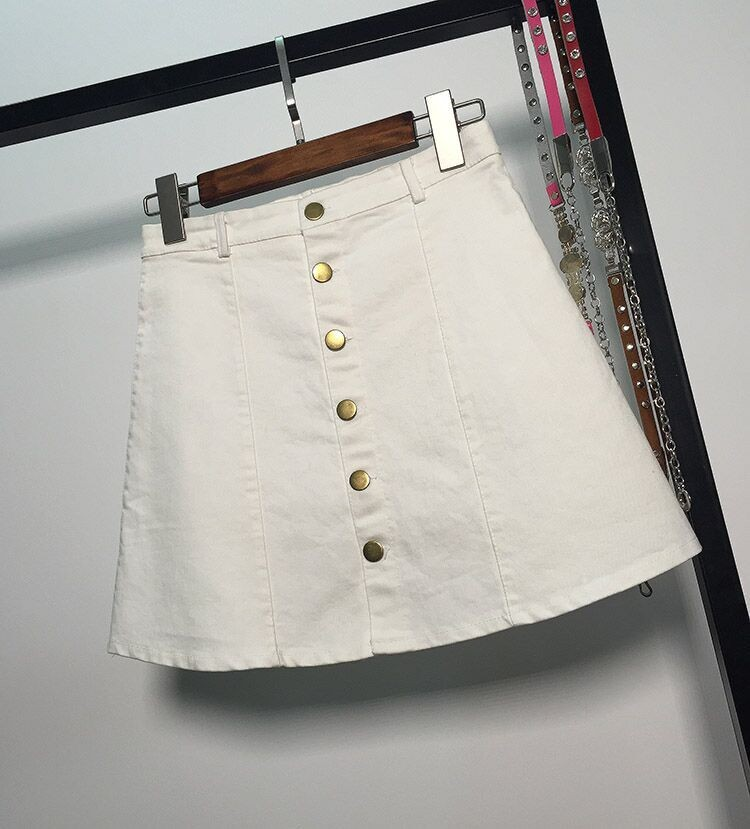 HTB1I2JlMFXXXXX1XXXXq6xXFXXXX - American Apparel button Denim Skirt JKP265