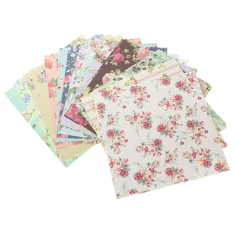 ALI shop ...  ... 32830872249 ... 2 ... KiWarm 24 Sheets Beautiful Floral Folding Paper Origami Art Background Paper Card Making DIY Scrapbook Paper Craft 15x15cm ...
